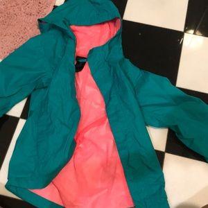 A rain jacket